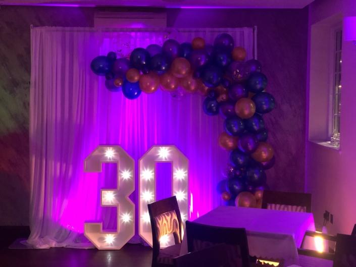 30th birthday party Hadley House Barnet