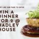 win dinner for 2 at Hadley House restaurant Barnet